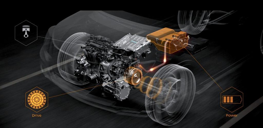 ตัวเครื่องยนต์ซึ่งรับหน้าที่ขับ 'เจเนอเรเตอร์' เพื่อปั่นไฟ จะทำงานด้วยรอบเดินเบา ซึ่งกินน้ำมันเชื้อเพลิงเพียงน้อยนิด และสร้าง CO2 ในปริมาณที่ต่ำมาก ๆ